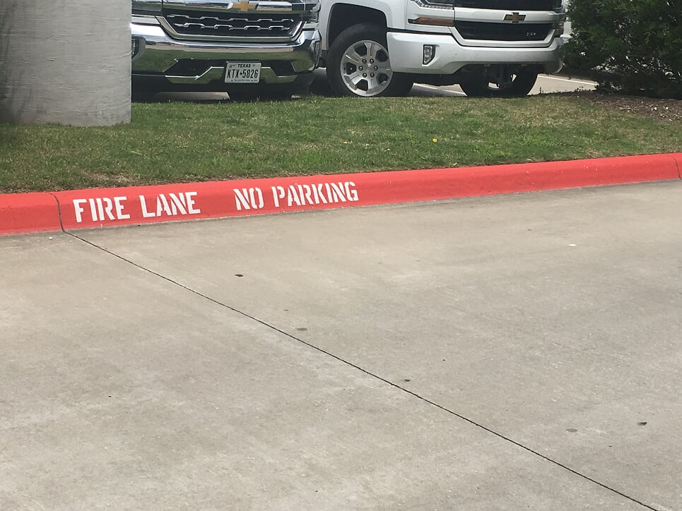 Fire Lane Striping service Duluth, GA